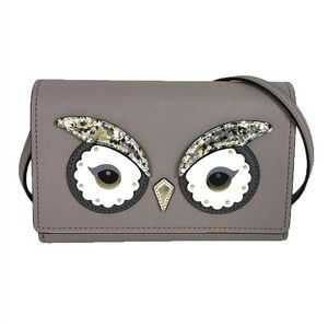 Kate Spade star bright owl Crossbody Bags Leather